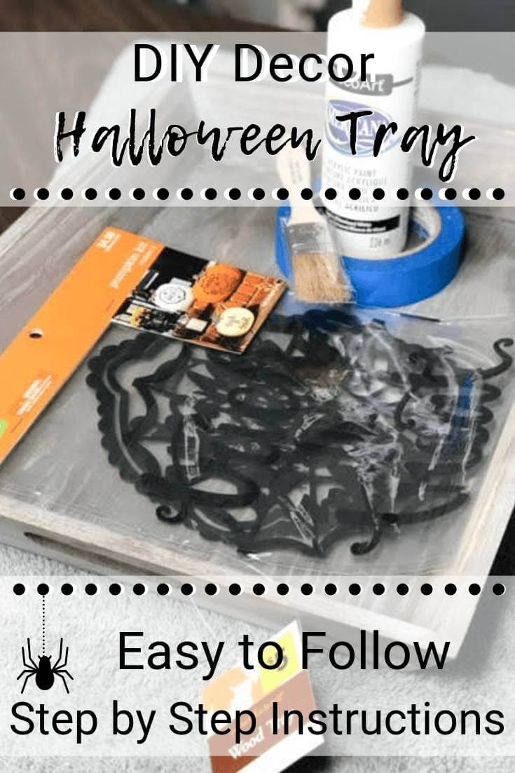 DIY Decor Halloween Tray with Easy To Follow Step By Step Instructions