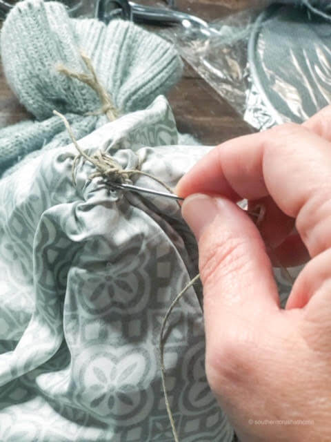 Sewing a Rossette In Fabric