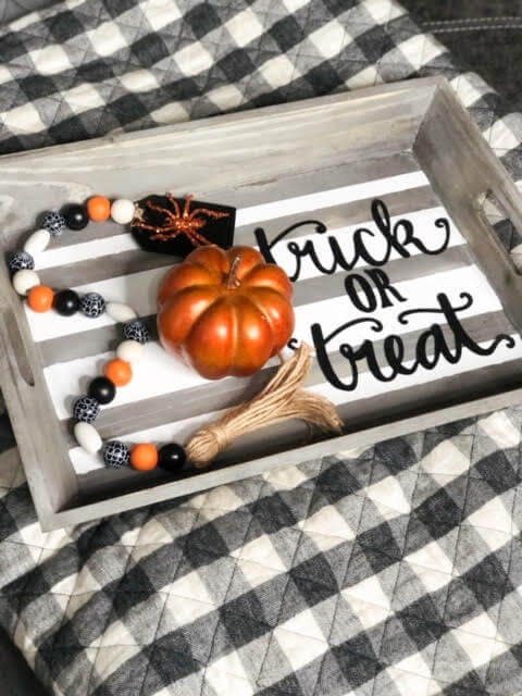 DIY Halloween Coffee Table Tray Decor
