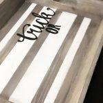 diy-halloween-tray-decor-farmhouse style trick or treat tassel striped tray