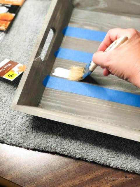 Painting a Wooden Tray