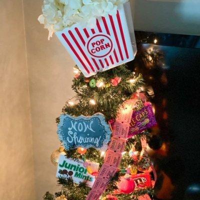 Movie Theater Theme Christmas Tree
