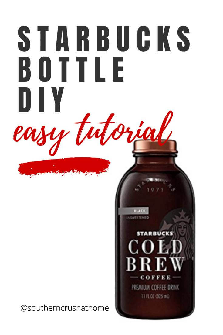 Starbucks Drink Bottle DIY pin