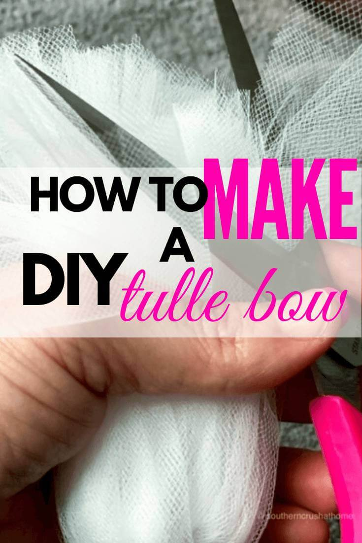 DIY Tulle Bow Pin