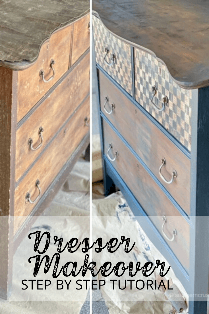 DIY dresser makeover step by step tutorial