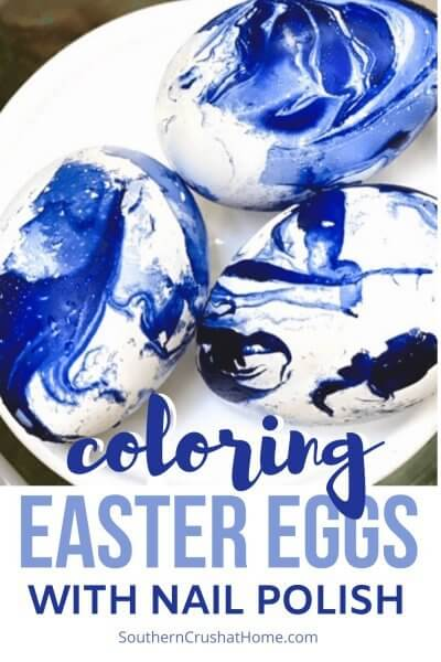 Coloring Easter Eggs with Nail Polish Pin