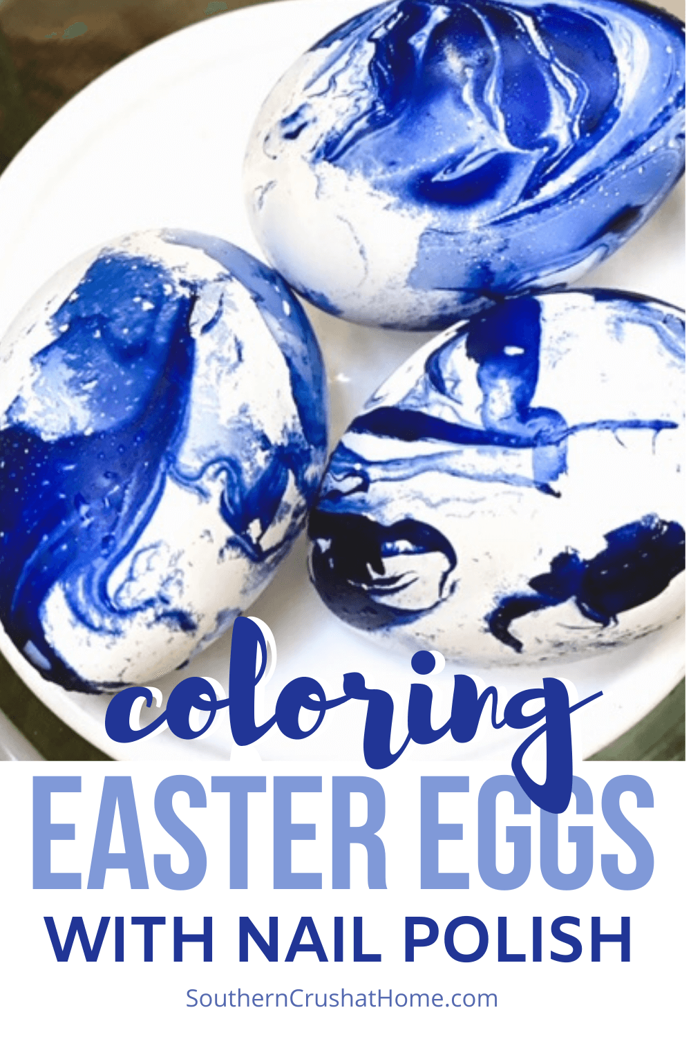 How to Color Easter Eggs with Nail Polish