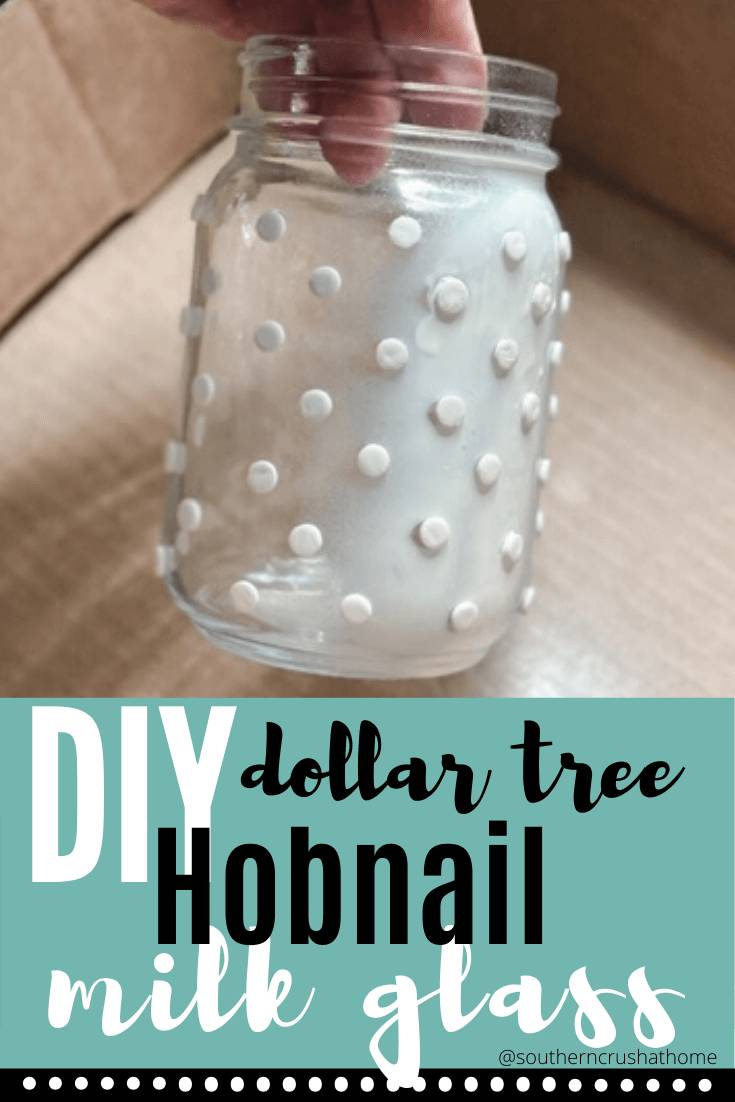 How to Make DIY Hobnail Milk Glass