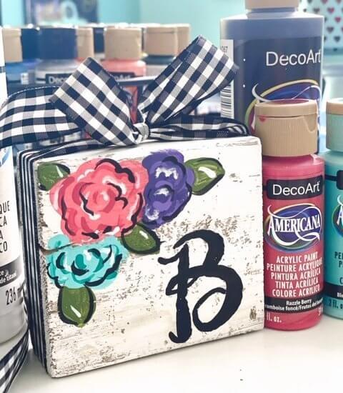 DIY-painted-wood-block