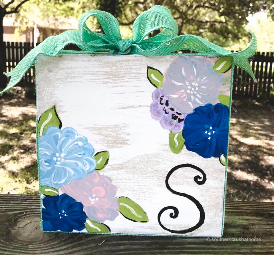 DIY-painted-wood-block