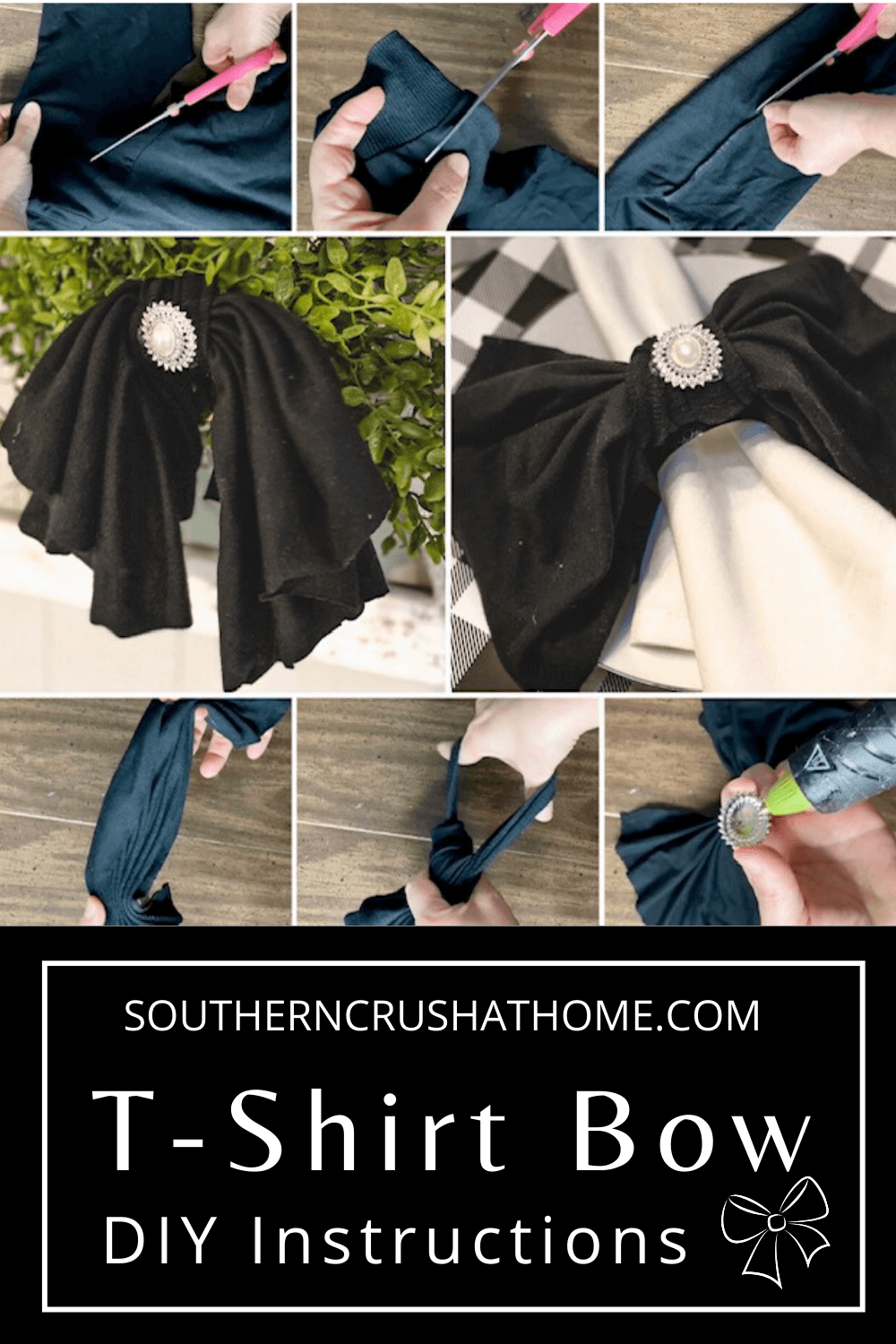 easy t-shirt bow diy pin