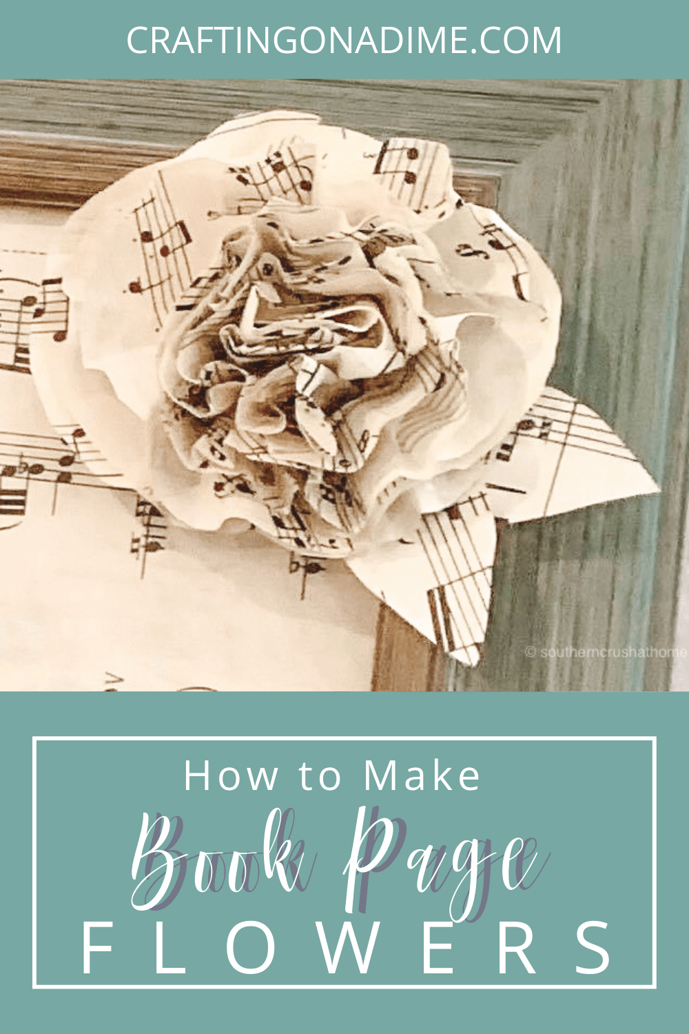 How to make book page flowers