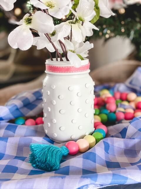 How to Make DIY Hobnail Milk Glass