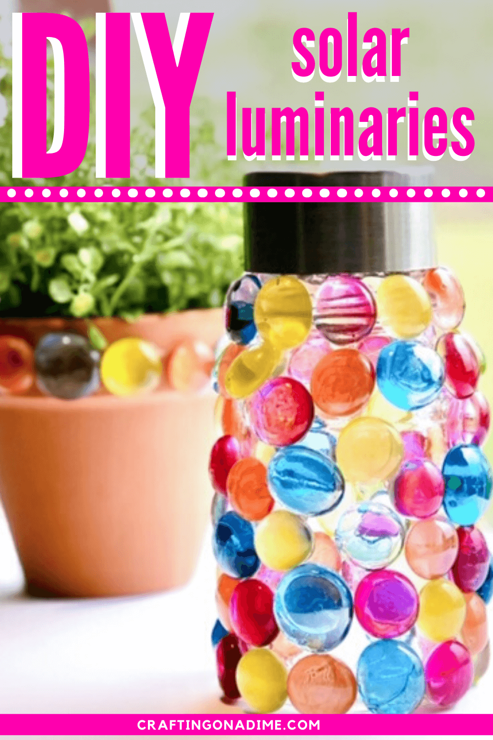 solar luminaries diy pin