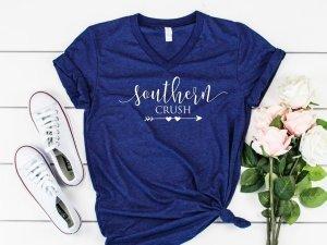 southern crush at home logo tshirt