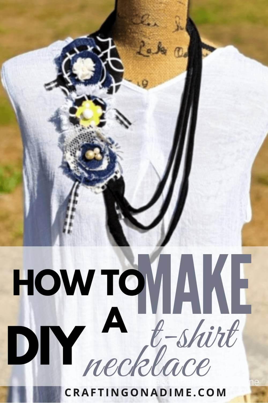 T-Shirt Necklace DIY pin
