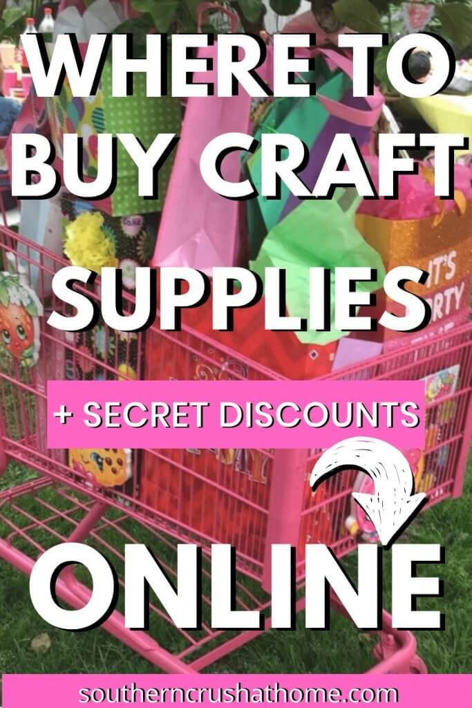 Where to buy craft supplies