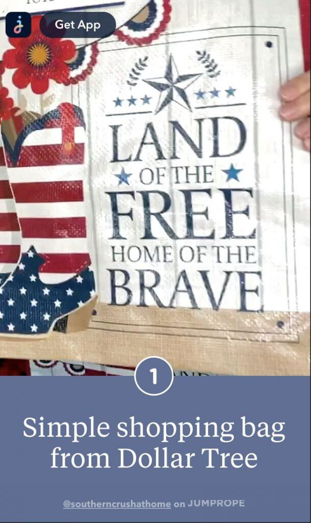 patriotic porch decor gift bag