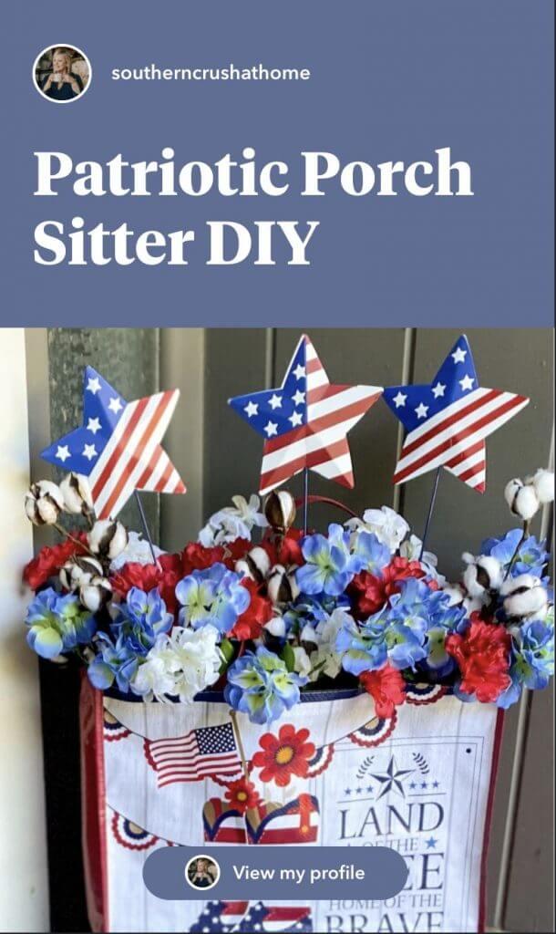 patriotic porch decor pin