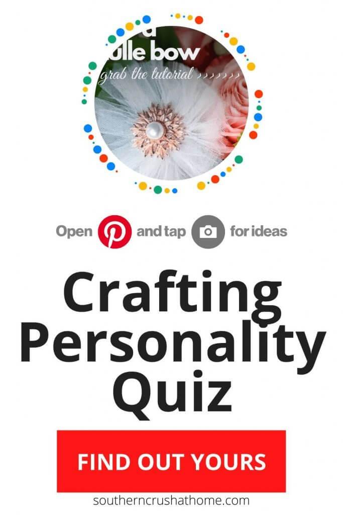 Crafting Personality Quiz Pin