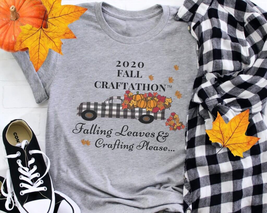 Fall Craft-a-thon T-shirt Mock up
