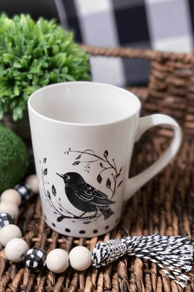 how to DIY a ceramic mug with paint or sharpies