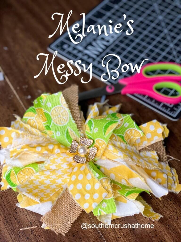 melanie's lemon messy bow