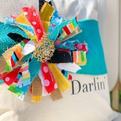 Messy Bow Burlap Pillow Wrap