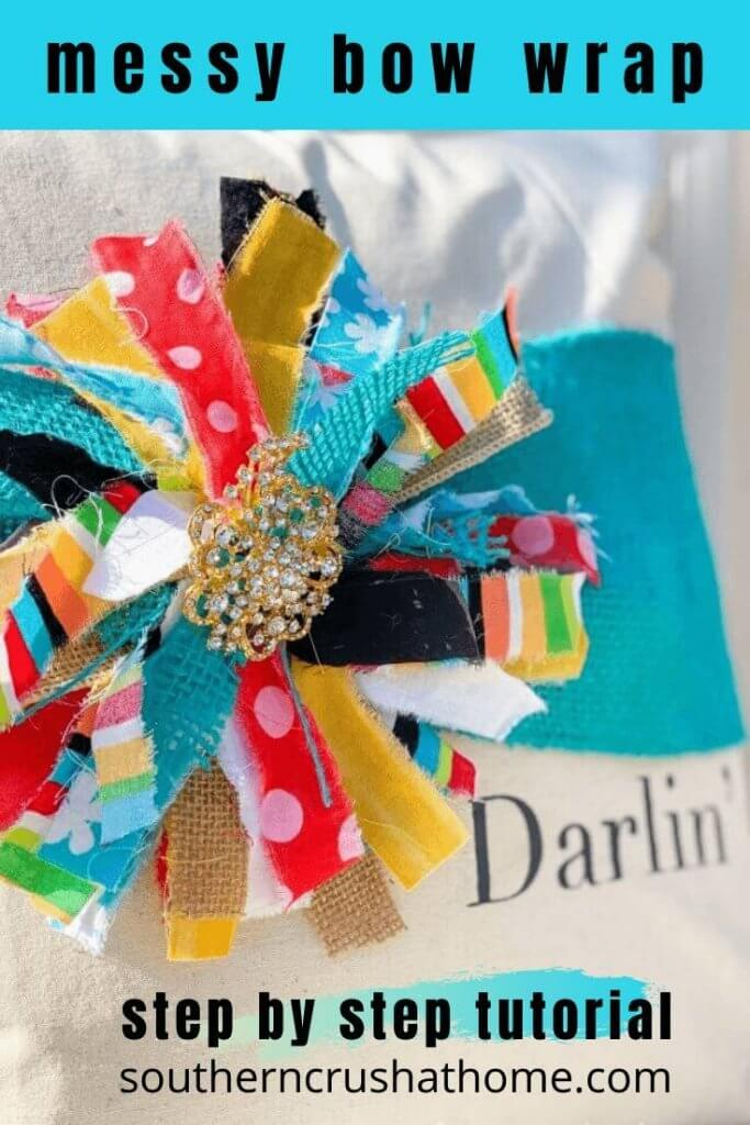 Messy Bow Pillow Wrap DIY