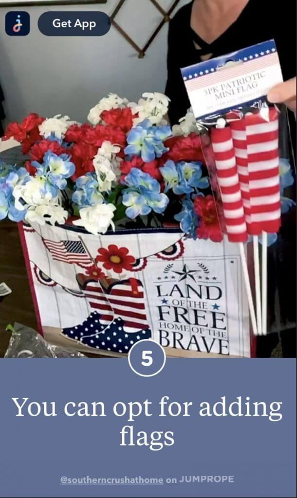 porch decor adding american flags