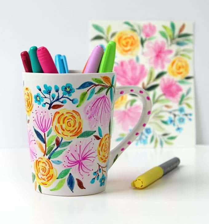 ceramic mug sharpie diy