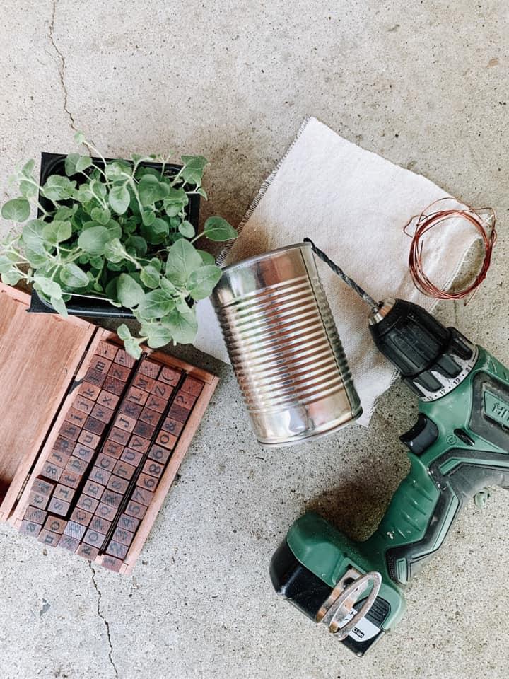 DIY Hanging Herb Planter Supplies
