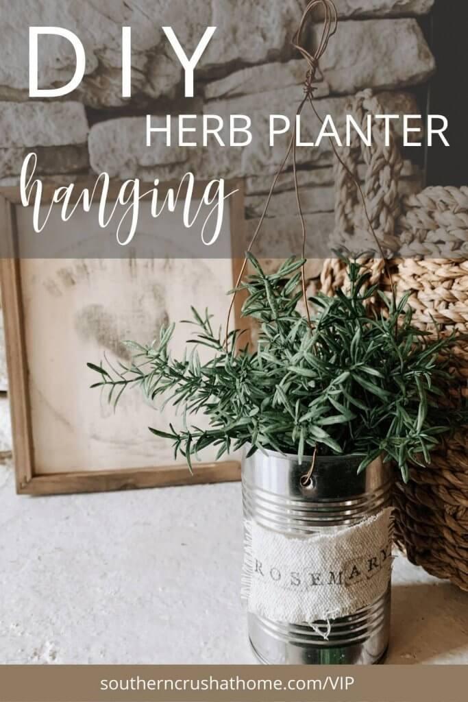 DIY Herb Hanging Planter
