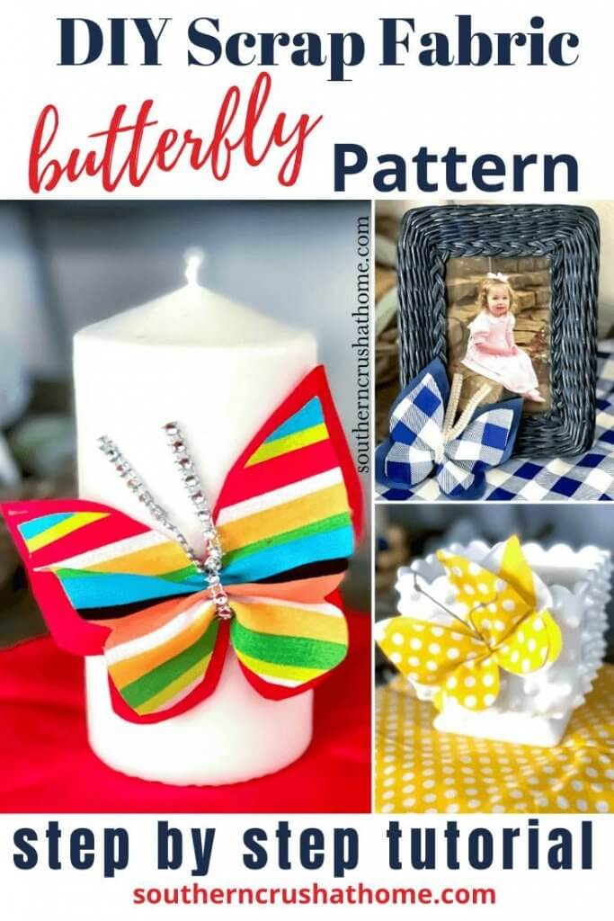 DIY Scrap Fabric Butterfly Pin