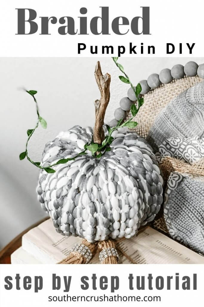 Braided Pumpkin DIY pin