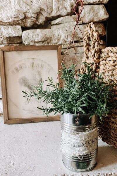 DIY Hanging Herb Planter Styled