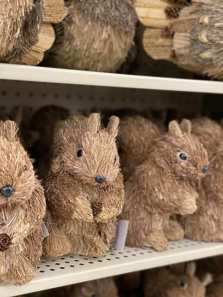 Hobby Lobby Fall Decor Tour 2020 squirrels