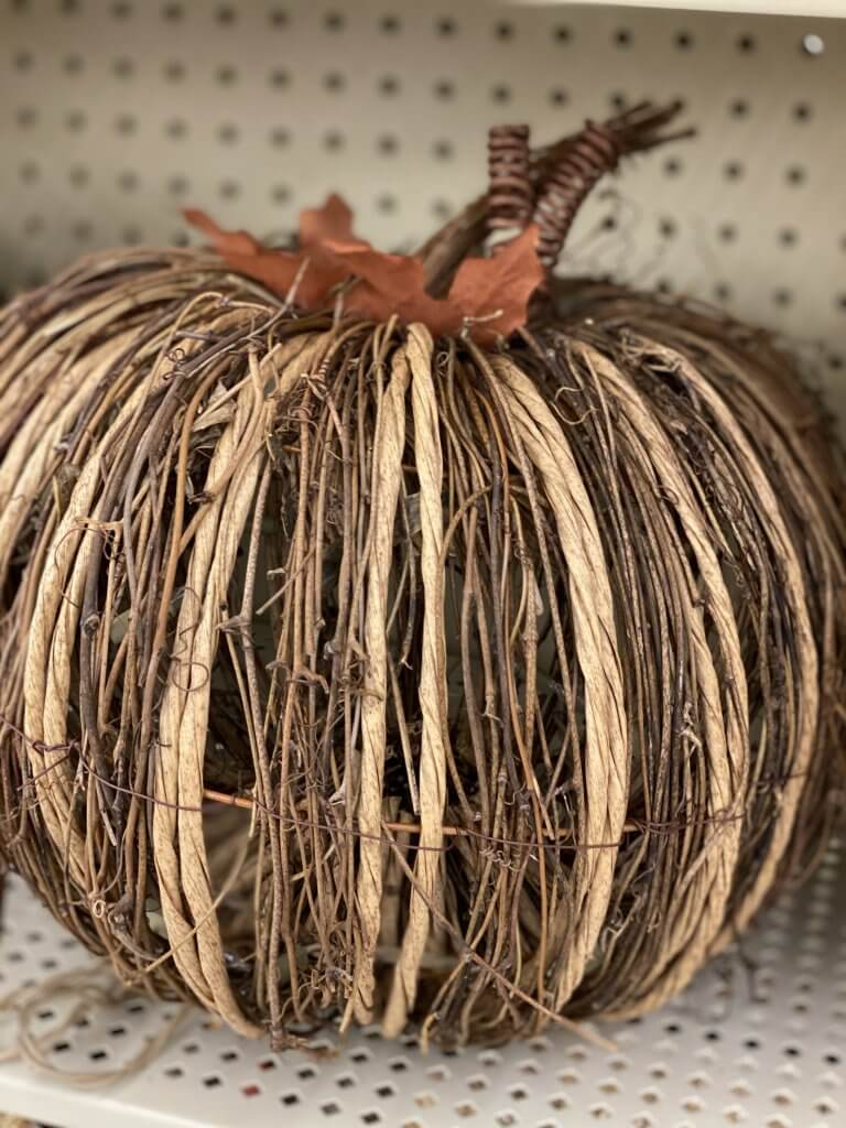 Hobby Lobby Fall Decor Tour 2020 natural pumpkin