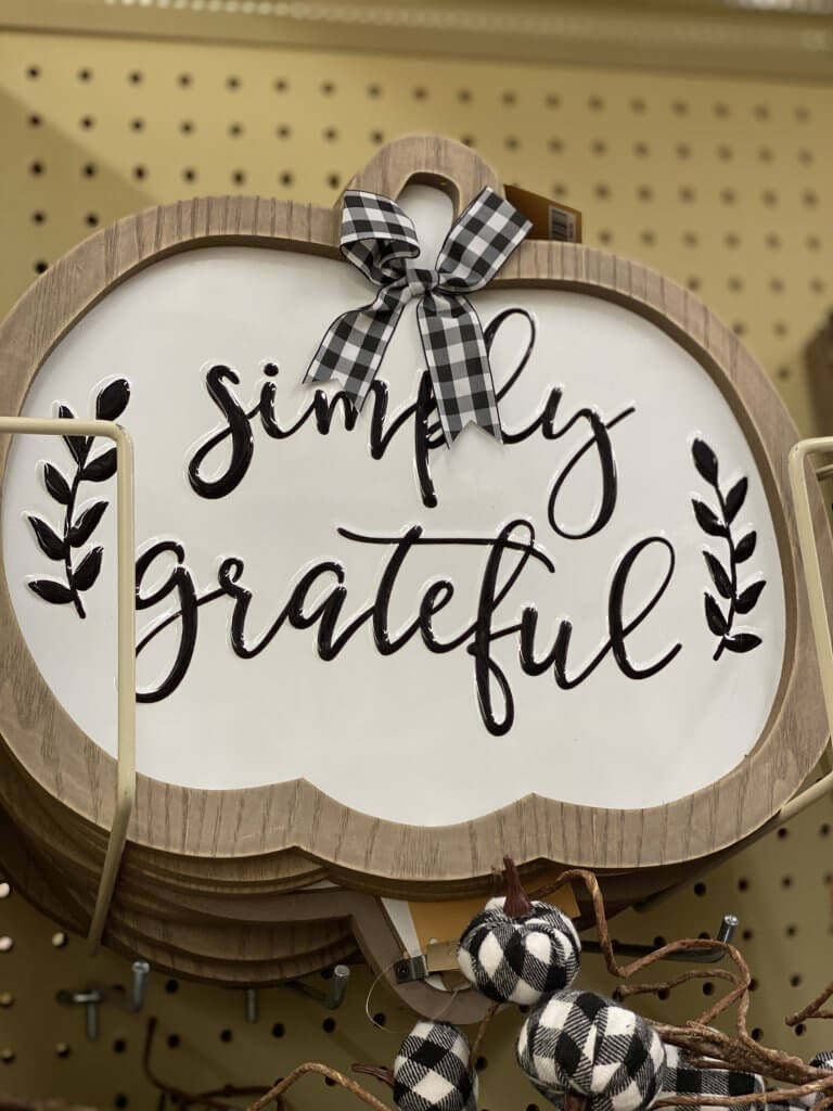 Hobby Lobby Fall Decor Tour 2020 simply grateful pumpkin