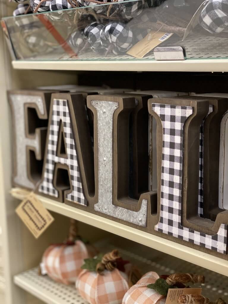 Hobby Lobby Fall Decor Tour 2020 fall sign