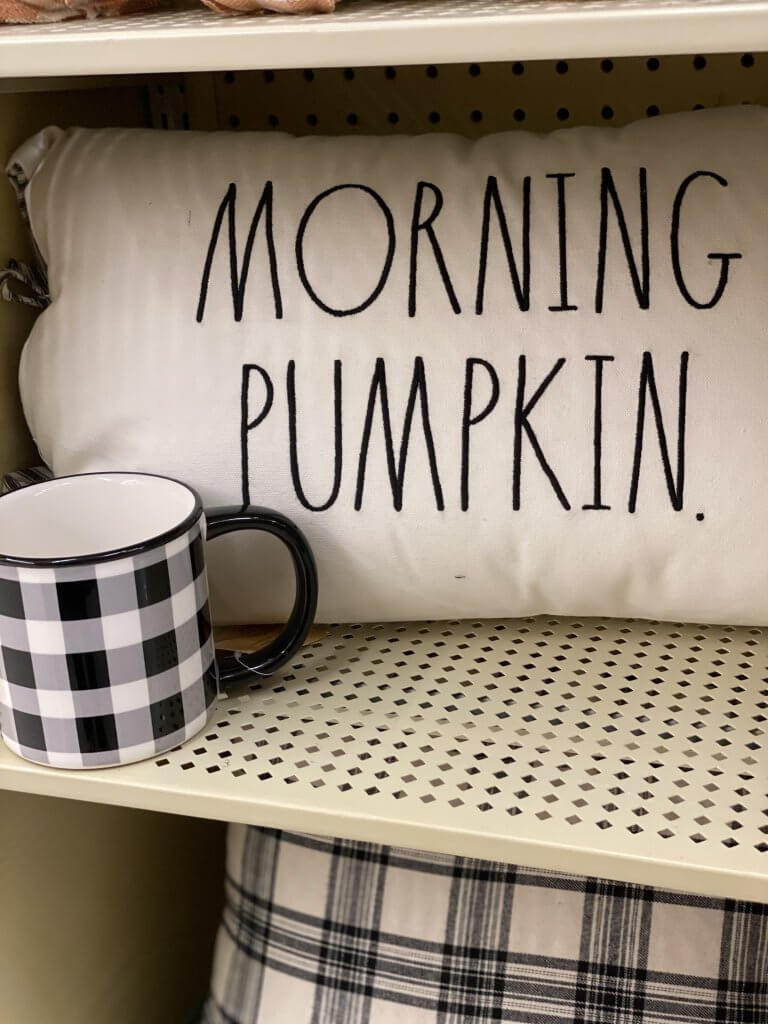 Hobby Lobby Fall Decor Tour 2020 morning pumpkin pillow