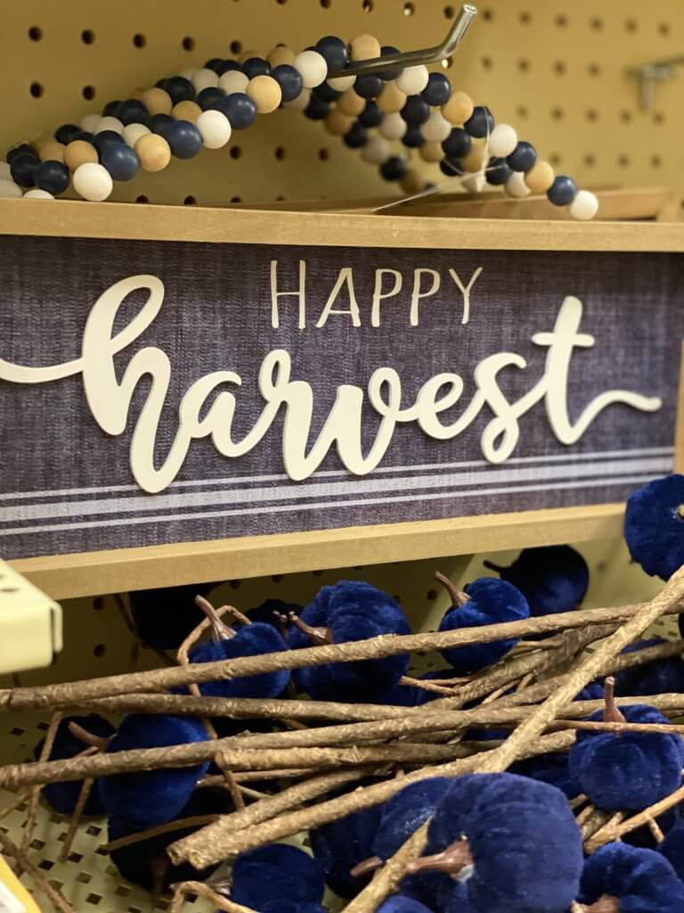 Hobby Lobby Fall Decor Tour 2020 happy harvest sign