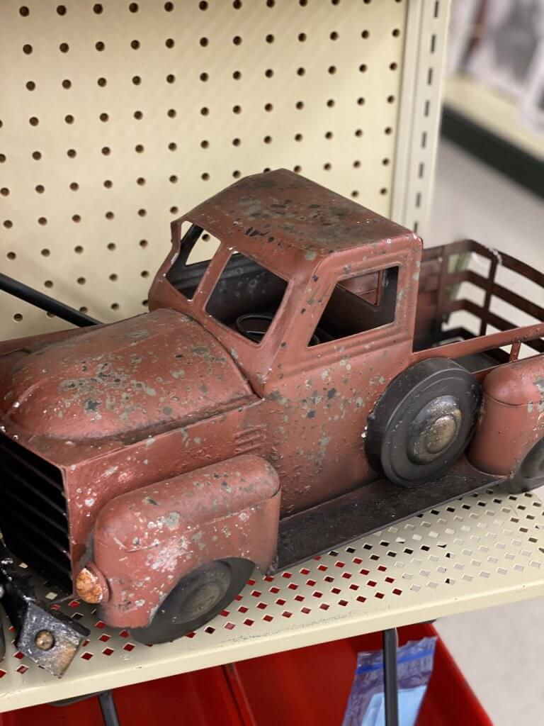Hobby Lobby Fall Decor Tour 2020 red vintage truck