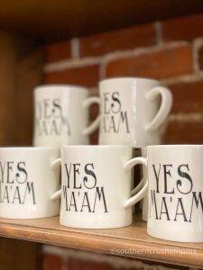 pioneer woman yes maam mug