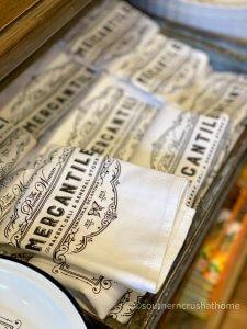 pioneer woman mercantile logo dish towel