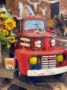 pioneer woman vintage red truck