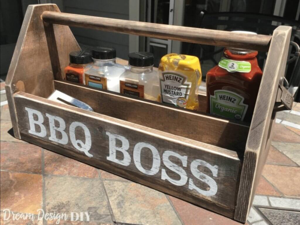 BBQ Tools Wooden Toolbox