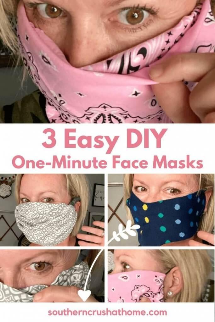 three easy diy face masks pin