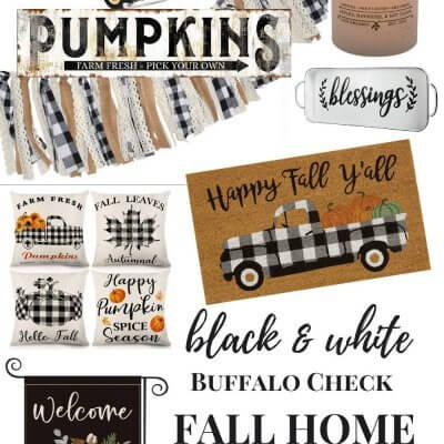 How to Add Black & White Decor to Your Home for Fall on a Budget + Fall Printable