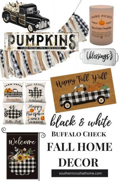 Black & White Fall Home Decor Finds PIN